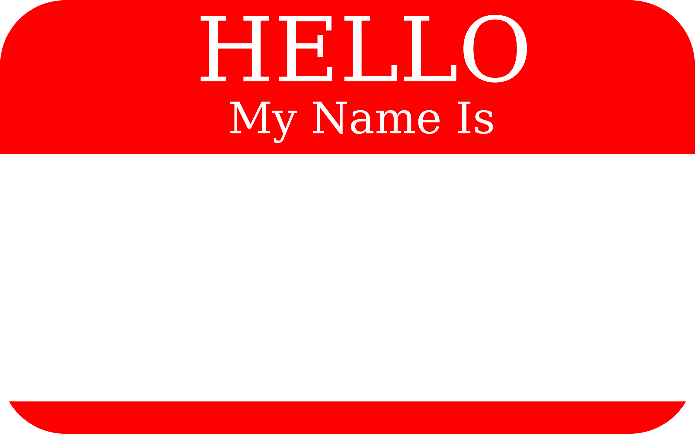 Hello! clipart my name is Is My Hello Name Hello