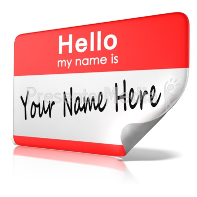 Hello! clipart my name is Is My Text  and