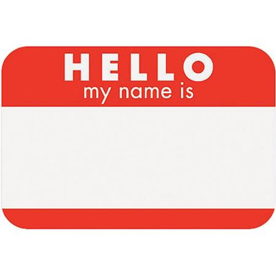Hello! clipart my name is Name Hello Stickers My