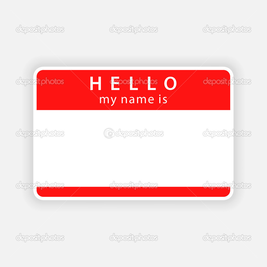 Hello! clipart my name is Set Name two tag tag:
