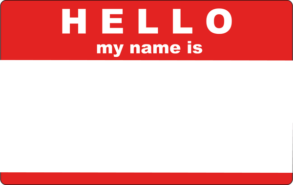 Hello! clipart my name is As: this My  at