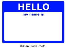 Hello! clipart my name is Name hello sign illustration Art