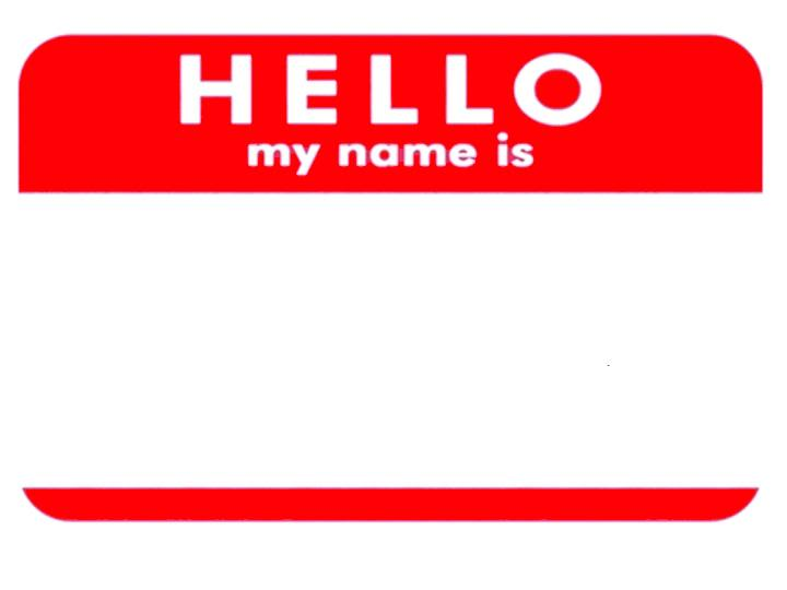 Hello! clipart name tag On  Download Name Clip