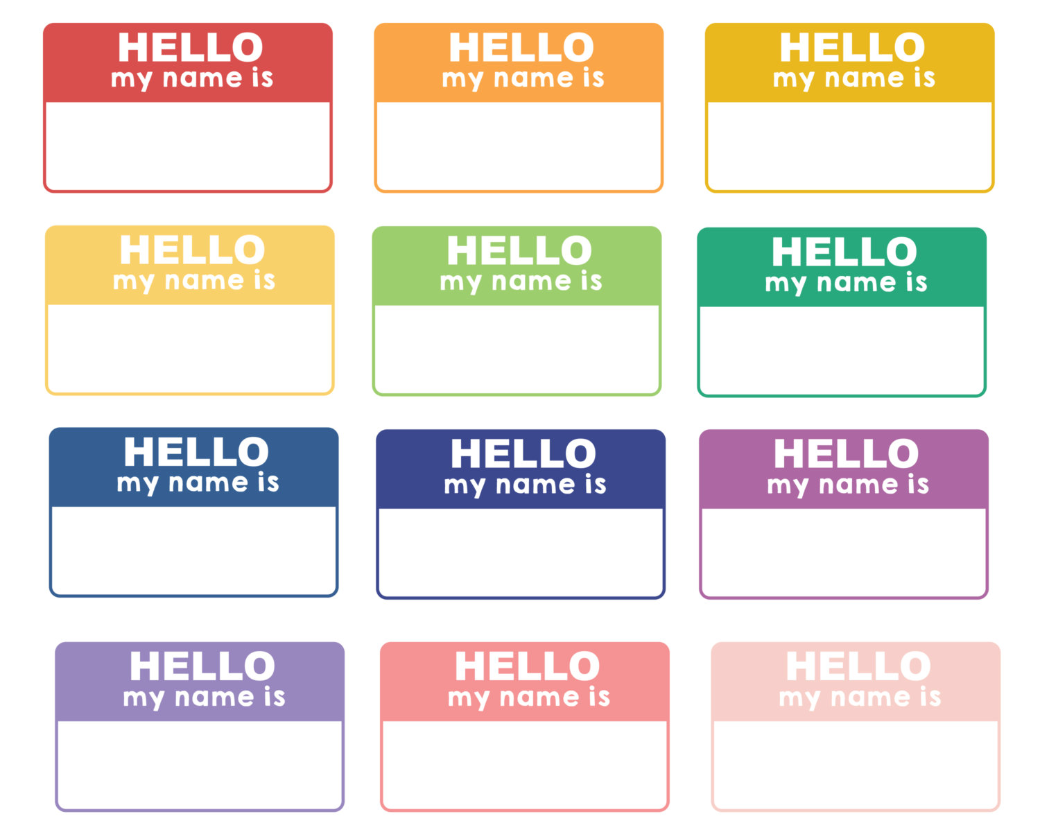 Hello! clipart name tag Clipart tag collection name Hello