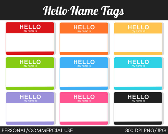 Hello! clipart name tag Clipart Clip Panda Free Name