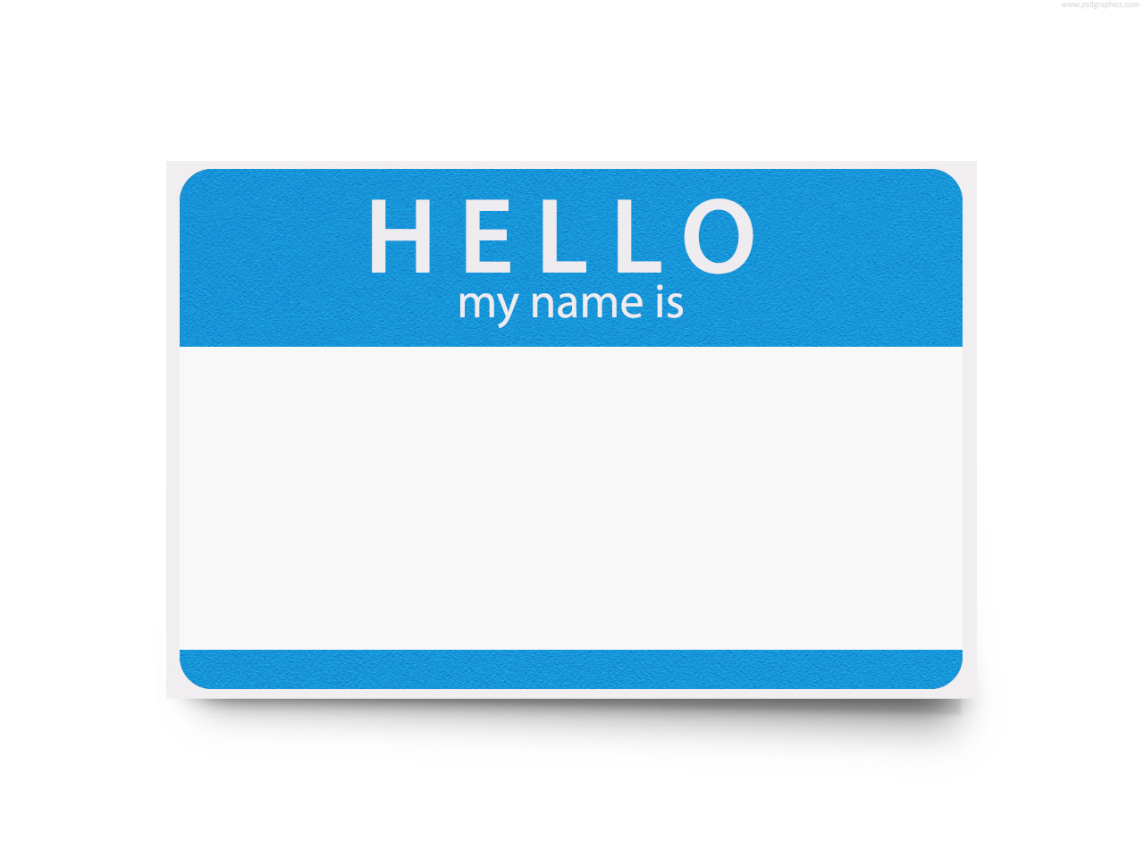 Hello! clipart name tag Art on Free Clipart Download