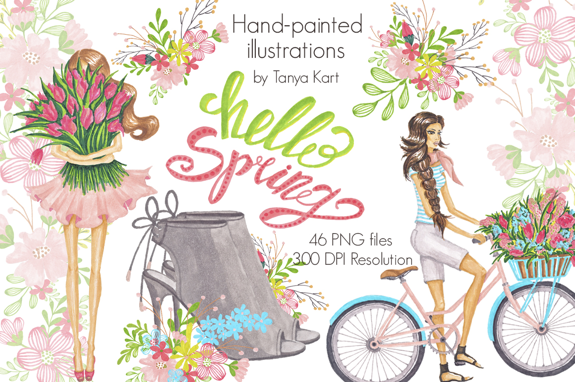 Hello! clipart resolution By TheHungryJPEG  Spring Clipart