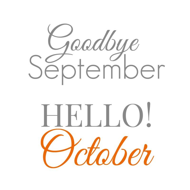 Hello! clipart september September tumblr Goodbye october hello