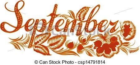Hello! clipart september Art stock of September art