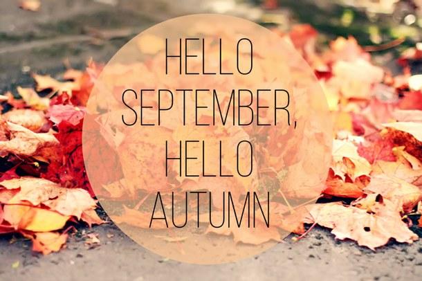 Hello! clipart september Hello Autumn  Hello September