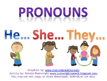 Hello! clipart she pronoun She They 48 He picture