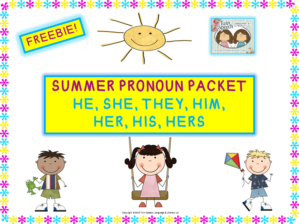 Hello! clipart she pronoun THEY  and Literacy HE