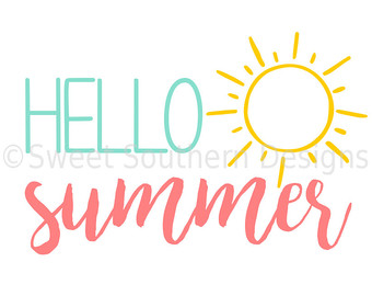 Hello! clipart summer Hello cricut with for Etsy