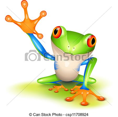 Red Eyed Tree Frog clipart drawn #4
