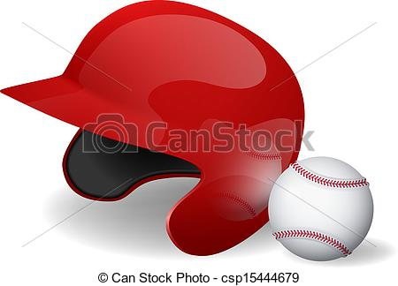 Baseball clipart baseball helmet Vectors Vector of  csp15444679