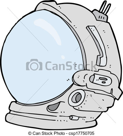Astronaut clipart astronaut helmet  cartoon Search cartoon csp17750705
