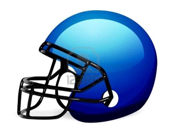 Football clipart light blue #3