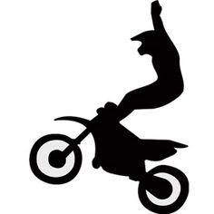 Stunt clipart motocross helmet Google dirt silouette Dirt Search