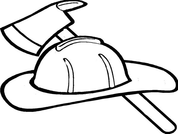 Coat clipart fireman Clipart Firefighter Coloring Hat Free