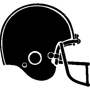 Simple clipart football helmet Art Football Art football Black