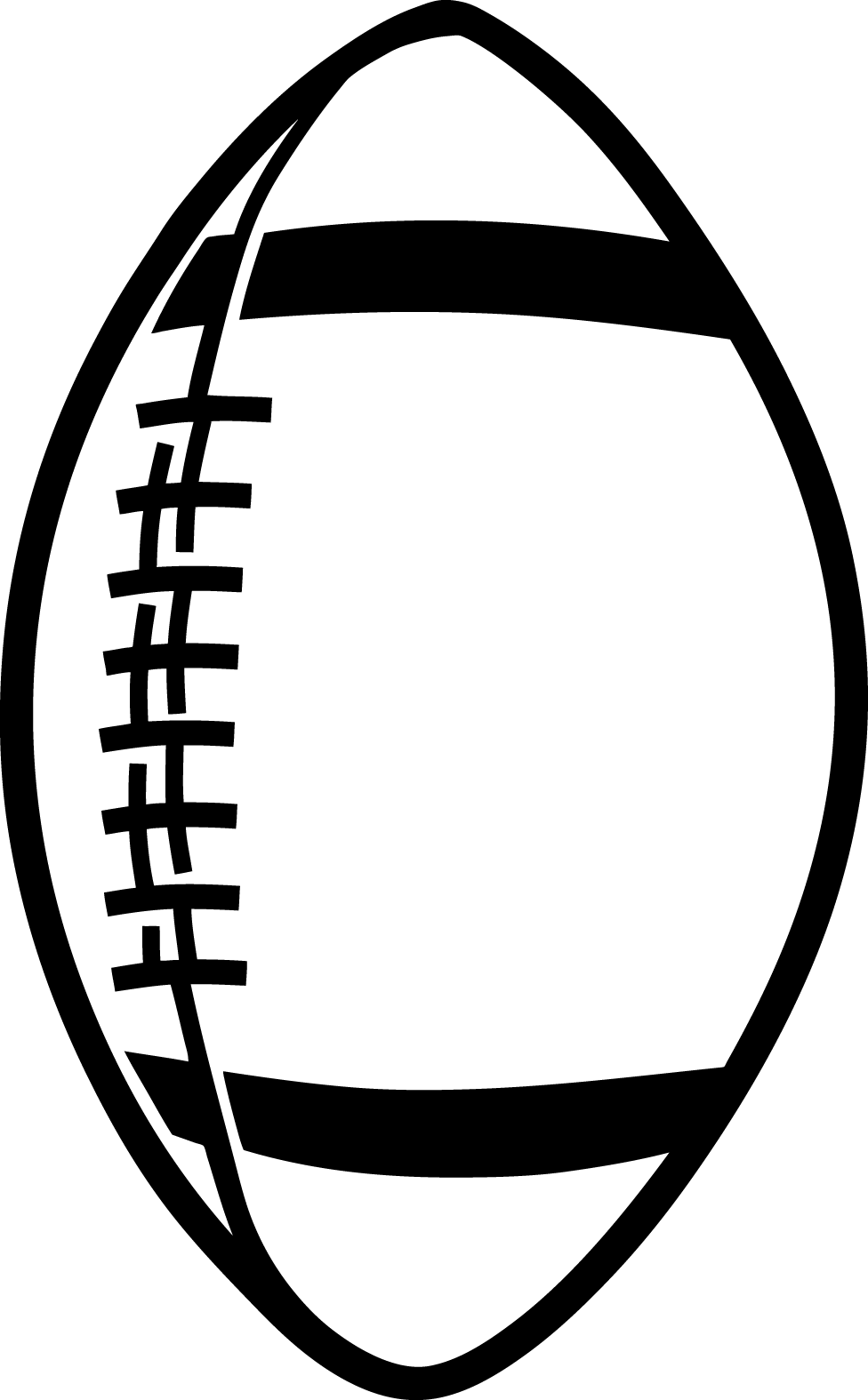Drawing clipart football Football outline football outline clipart