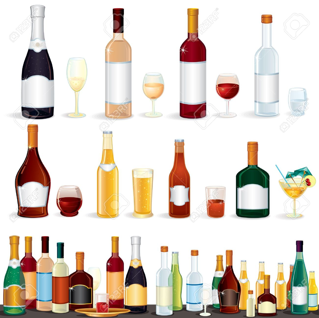 Drink clipart liquor Liquor Free Art Bottle free