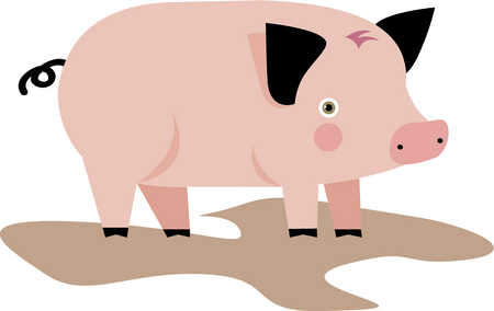 Herbivorous clipart Drawing pig Illustration a Stock