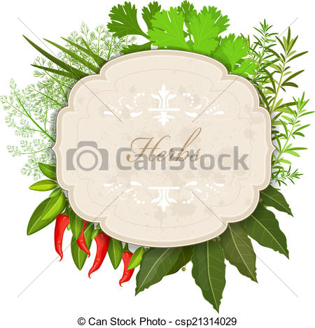 Herbs clipart herbs and spice And and Vector Illustration Vector