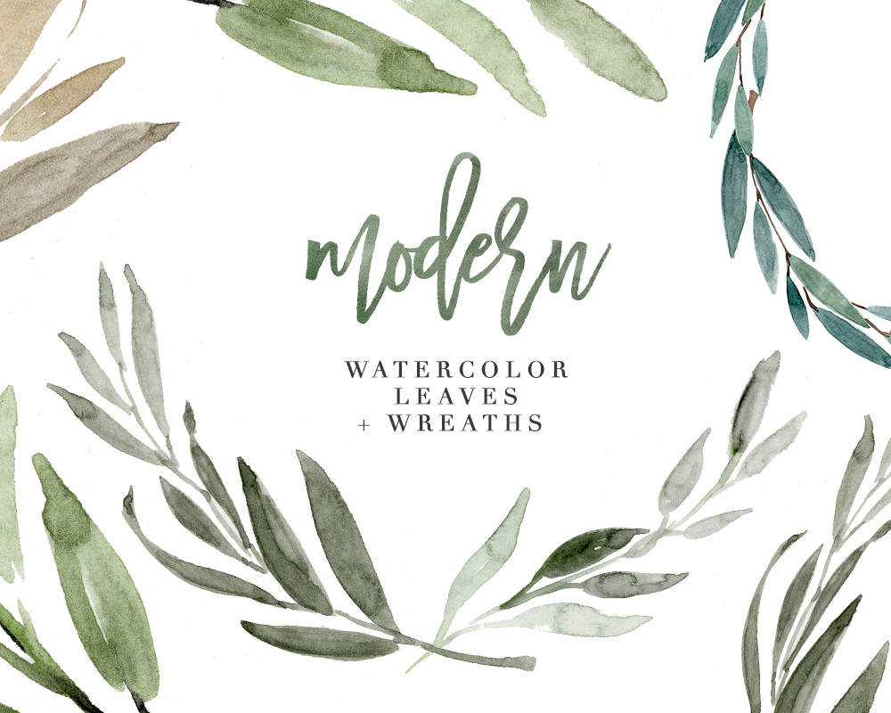 Herbs clipart eucalyptus leaves Modern is a Green Watercolor