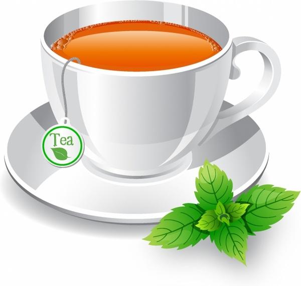 Teacup clipart herbal tea Vector Tea art cup Tea