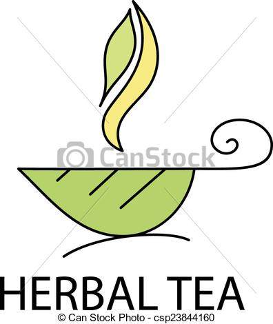 Steam clipart tea From a with leaf Vector