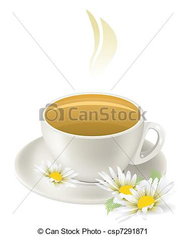 Teacup clipart herbal tea Csp7291871 hot tea camomile of