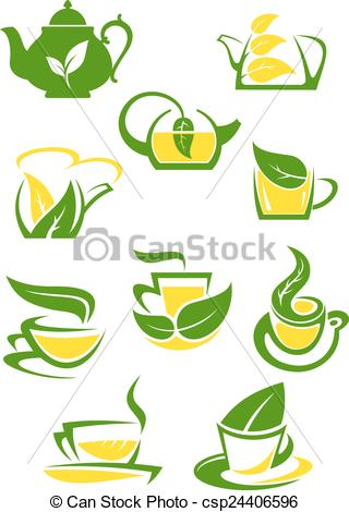 Teacup clipart herbal tea EPS lemon icons or and