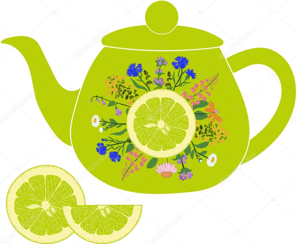 Herbs clipart teapot And with lime Lime Lime