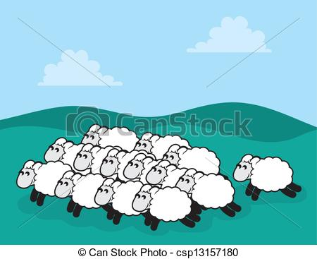 Drawn sheep herd sheep EPS  clipart and 152)