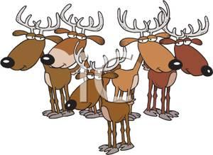Herd clipart Image: A Herd Deer Image: