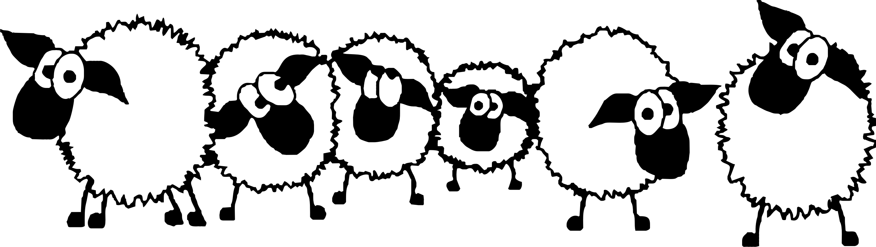 Sheep clipart border #1