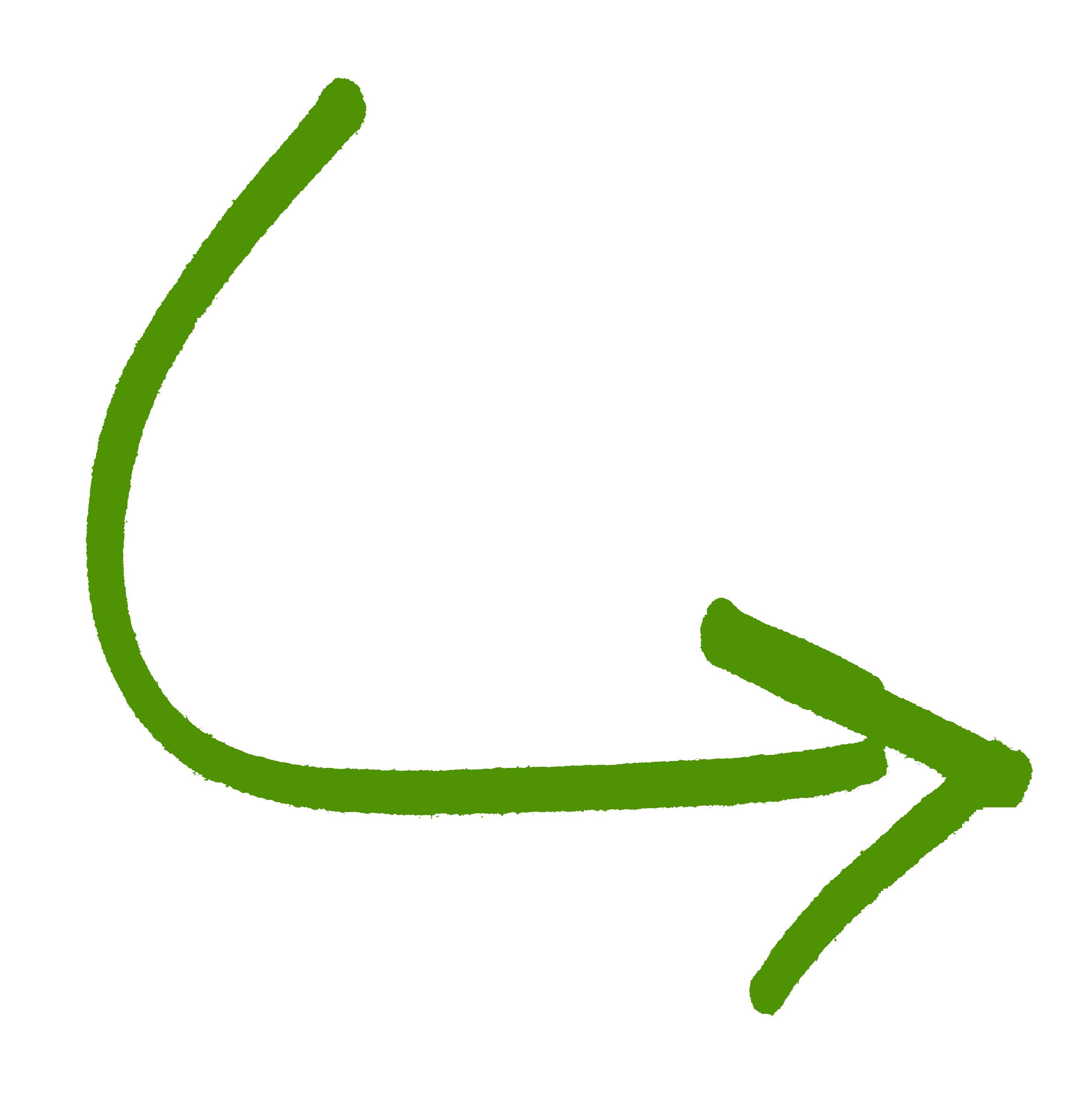 Drawn arrow green #15