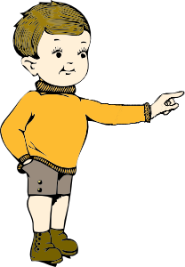 Here clipart boy pointing #6
