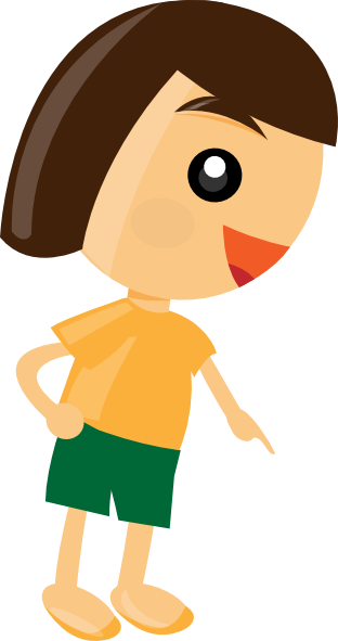 Here clipart boy pointing #5
