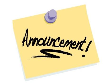Notice clipart special announcement #1