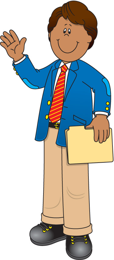 Here clipart male teaching #9