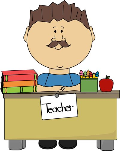 Here clipart male teaching #11
