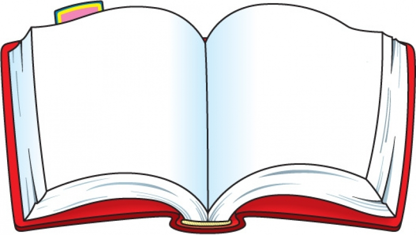 Red clipart open book #1