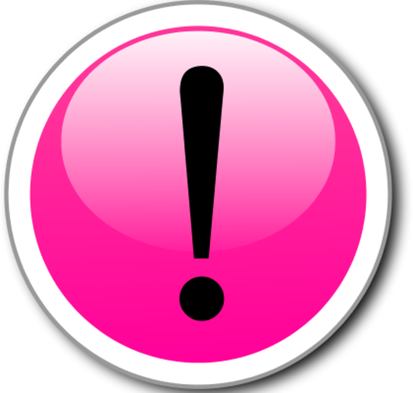 Pink clipart exclamation mark All art Clipart About clipart