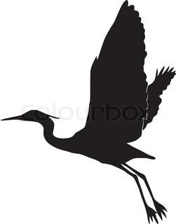 Blue Heron clipart flying #15