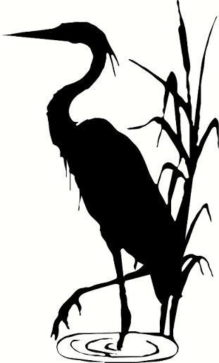 Brds clipart blue crane Decor crane Blue summer wall