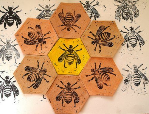 Hexagon clipart bee home Best hand bee Bee images