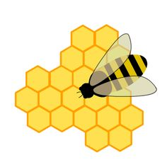 Hexagon clipart bee home Illustration ClipartCartoon · royalty Animated