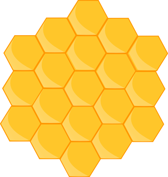 Hexagon clipart bee home Pinterest Bee Art More